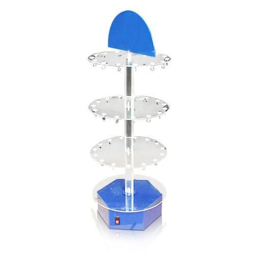 圓柱形分層電動旋轉展示架