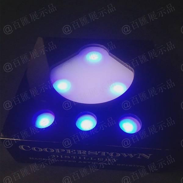 藍光LED燈亞加力膠盒-正面