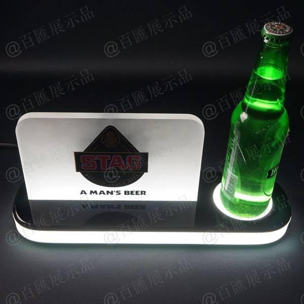 啤酒發光亞加力膠展示座-產品展示