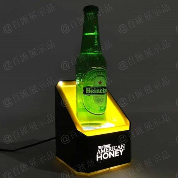 啤酒展示LED燈發光亞加力展示台-產品展示