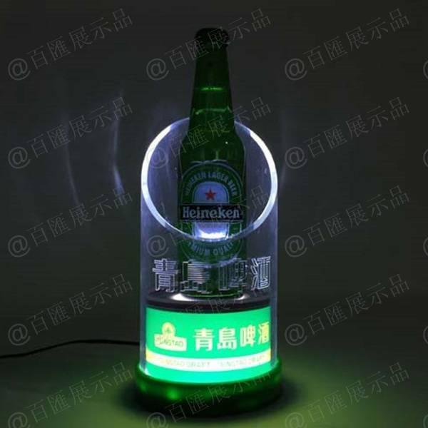 青島啤酒展示台-燈光效果