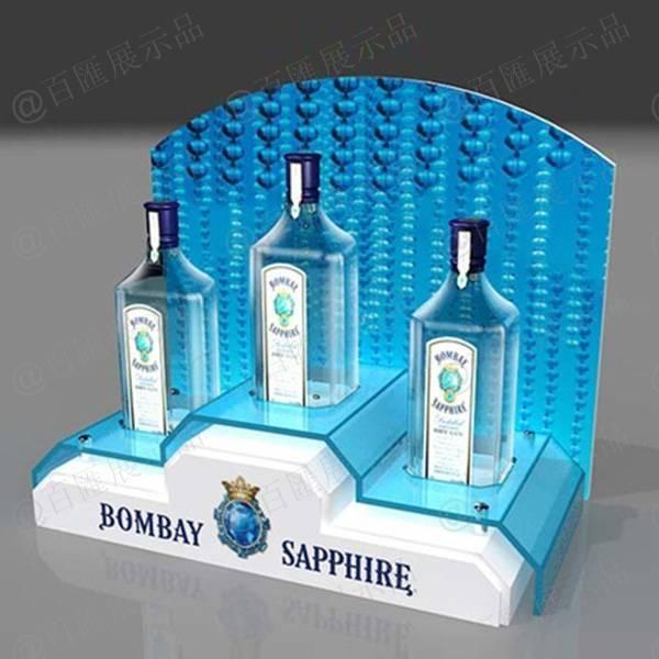 L型發光酒類亞加力展示架