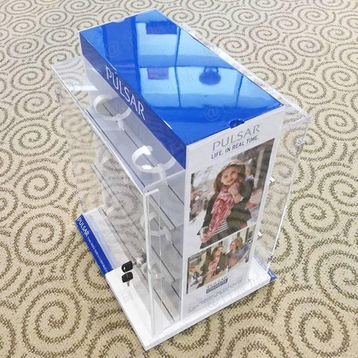 帶鎖保險櫃手錶展示架-更換廣告攝紙
