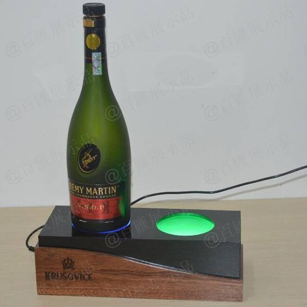 木板與亞加力相結合發光酒展示座