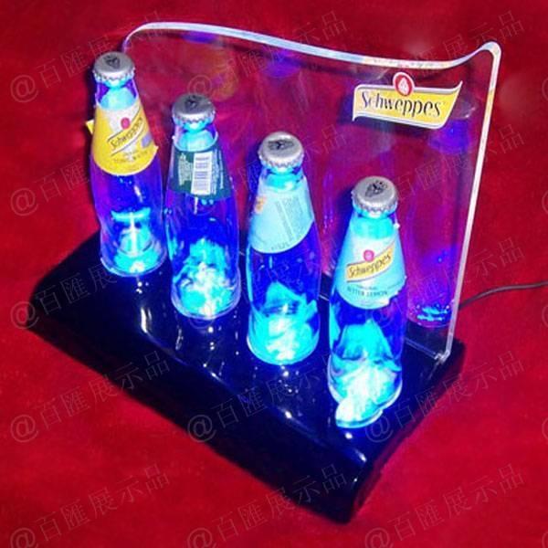 四瓶裝帶LED燈發光亞加力膠座