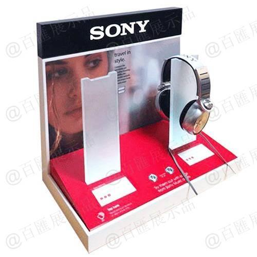 索尼品牌耳機演示亞加力展示架-左側