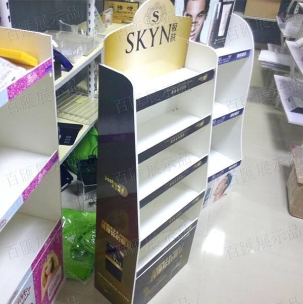 極膚化妝品展示架-側面