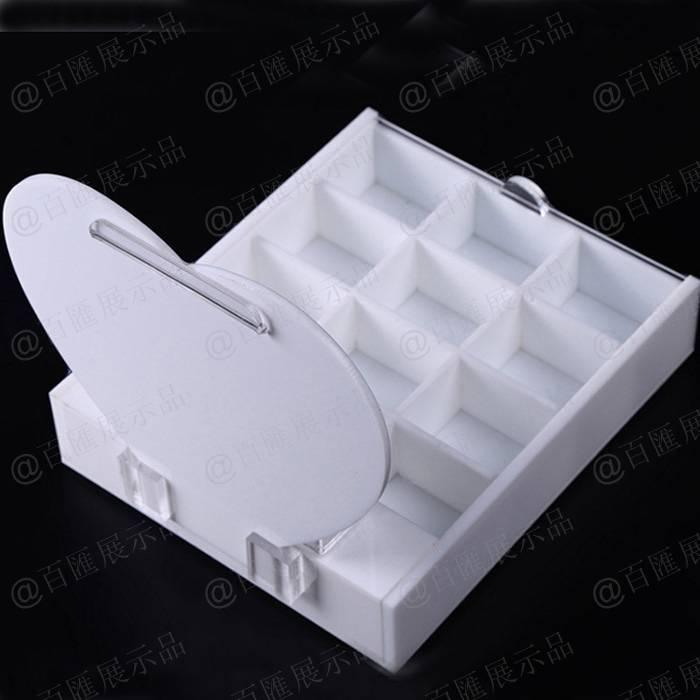 白色亞加力珠寶展示托-背面