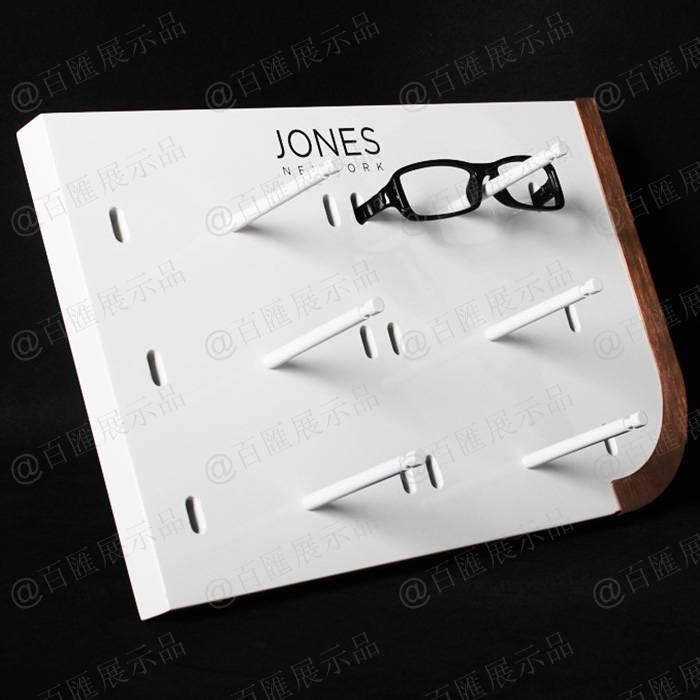 可拆裝簡易眼鏡展示架-側面