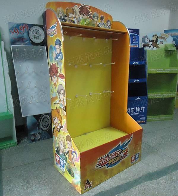 動漫玩具掛鉤紙類展示架-左側