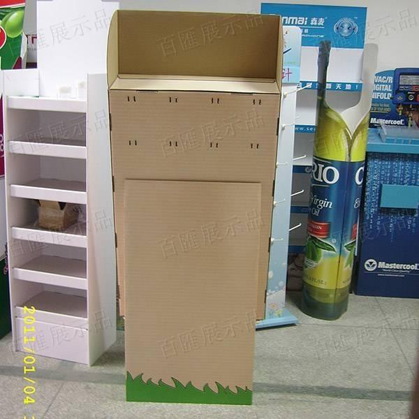 塑膠掛鉤瓦楞紙展示架-背面