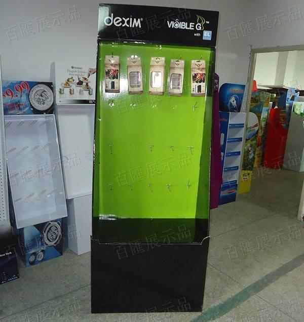 手機配件掛鉤紙品展示架-正面