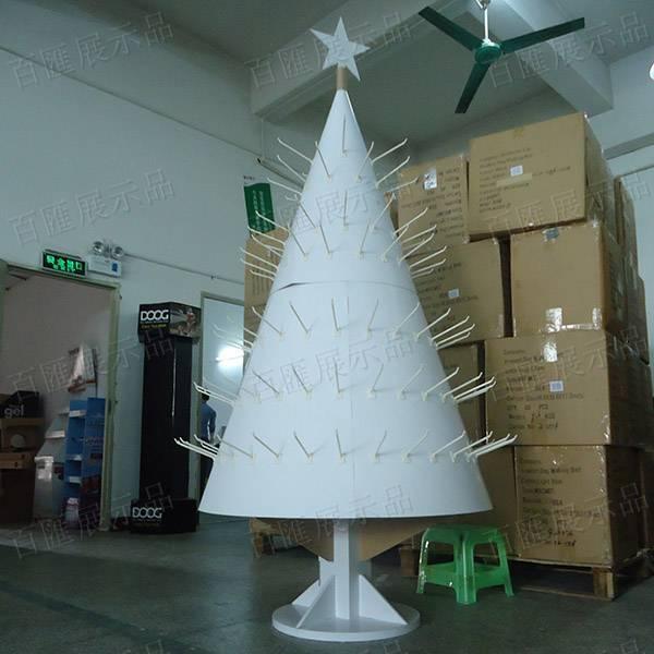 聖誕樹形掛鉤式禮品展示架-正面
