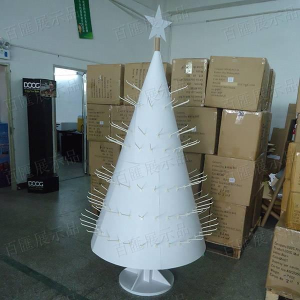 聖誕樹形掛鉤式禮品展示架-白樣