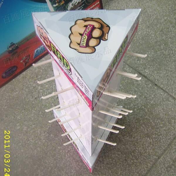 透明旋轉盤三面掛鉤座台架