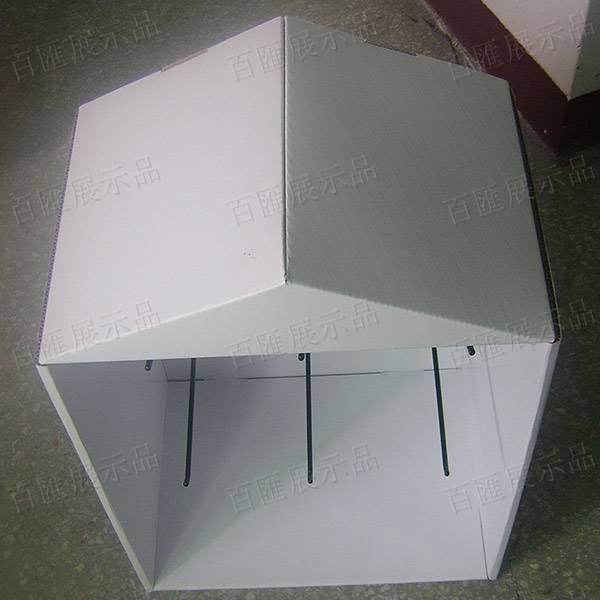房子造型金屬掛鉤紙展示架-頂部