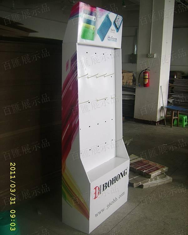 手機外殼直立式掛鉤紙製陳列架-左側