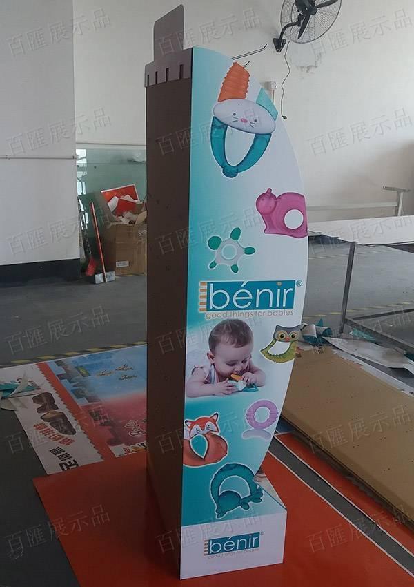 嬰兒玩具掛鉤式陳列架-左側