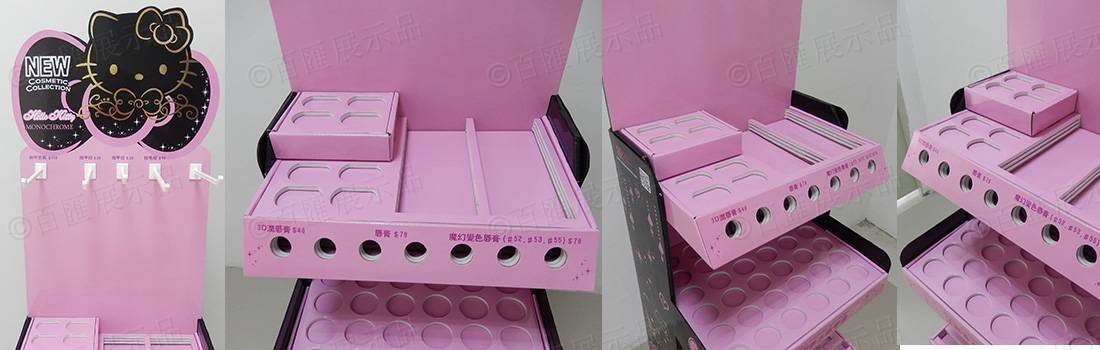 Hello Kitty 莎莎化妝品紙質陳列架
