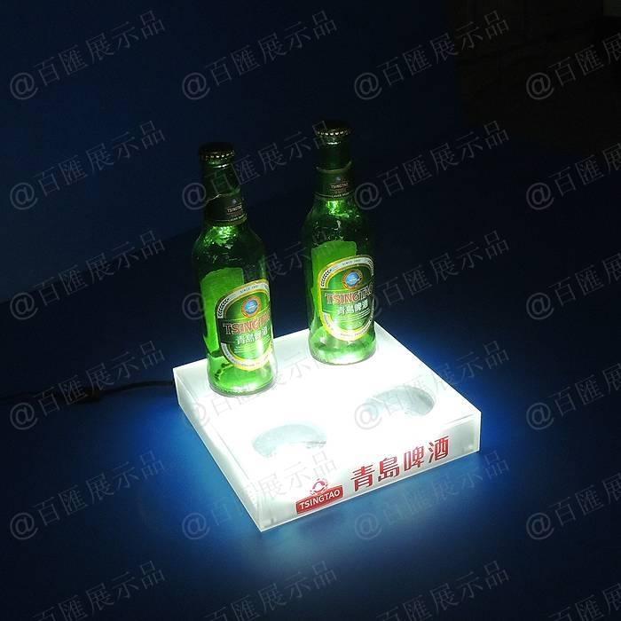 青島啤酒底發光展示盒