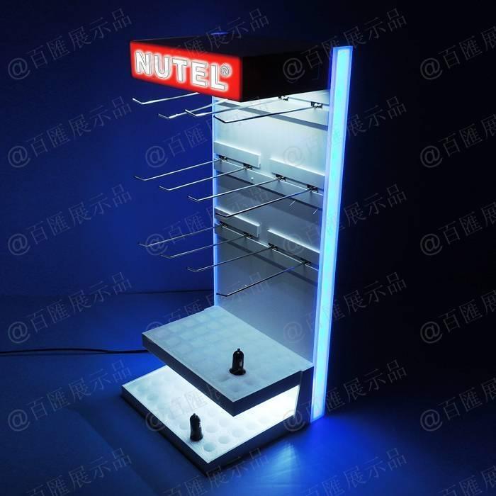 掛鉤式背板發光展示架
