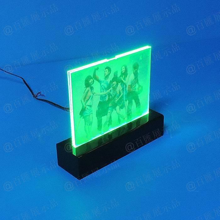 可更換燈片發光亞加力展示架