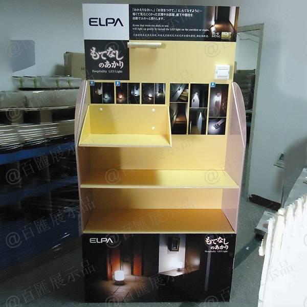 LED感應燈紙陳列架-正面