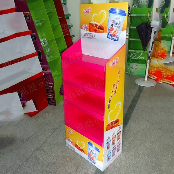 香飄飄奶茶紙展示架-成品
