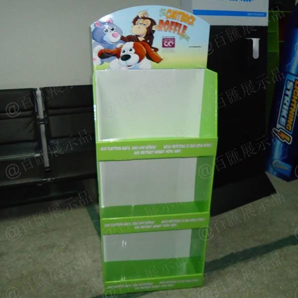 公仔玩具紙質展示架-正面