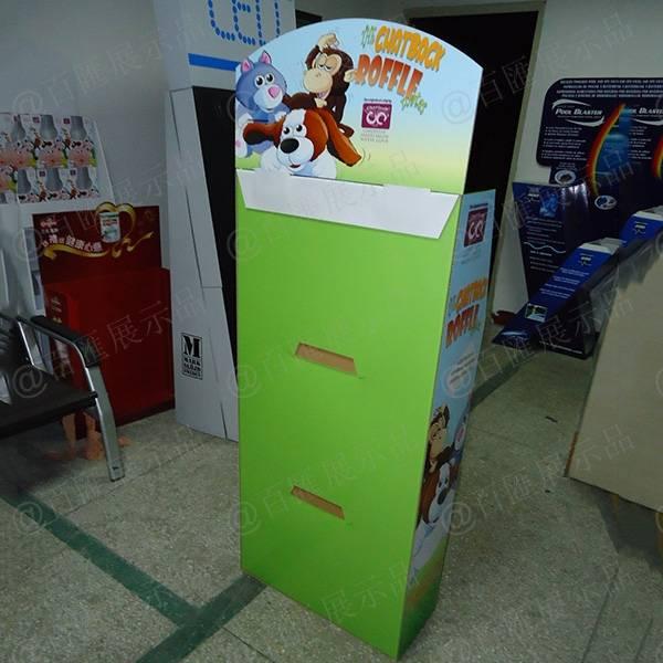 公仔玩具紙質展示架-背面