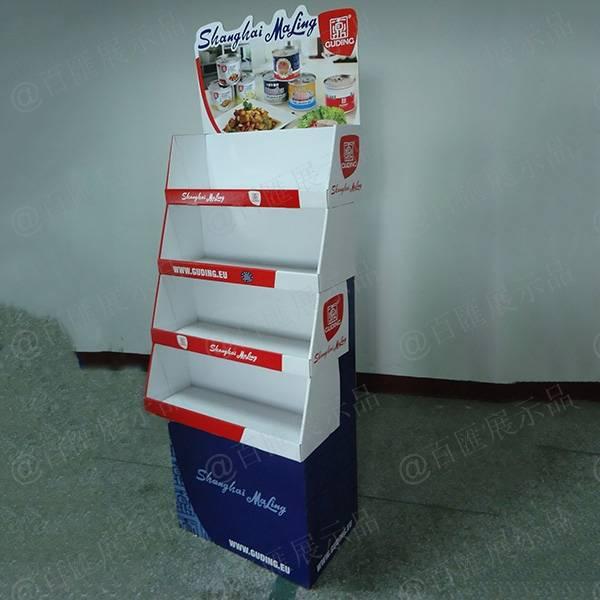 罐頭醬食品紙質展示架-右