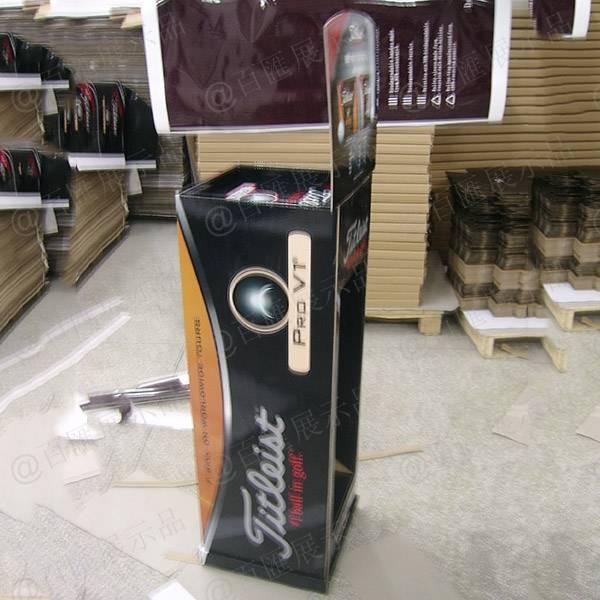 高爾夫球紙質陳列架-側面