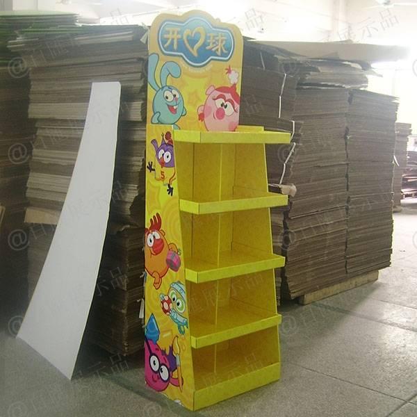 開心球玩具陳列紙櫃-左側