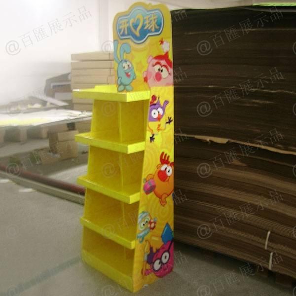 開心球玩具陳列紙櫃-右側
