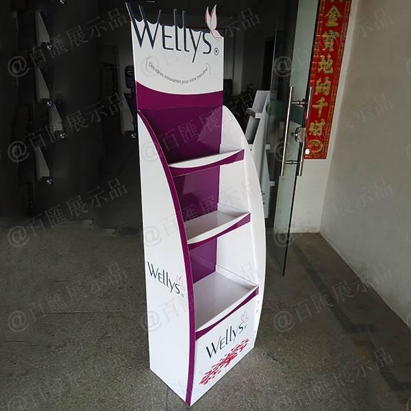 Wellys 健康產品紙展示架-左側