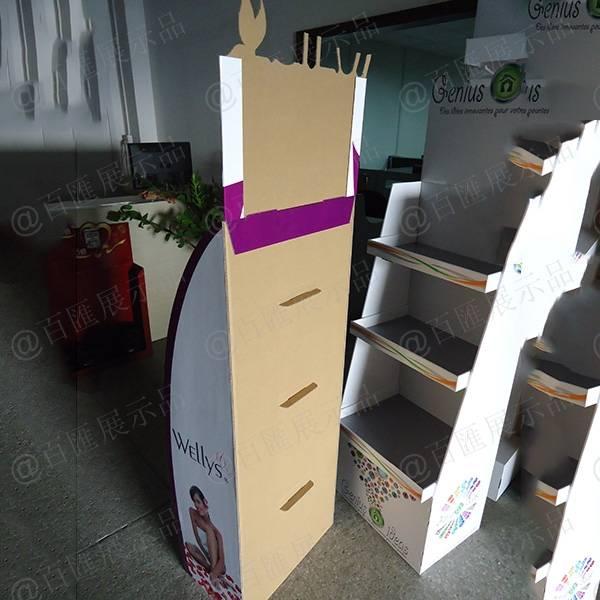 Wellys 健康產品紙展示架-背面