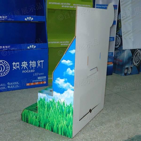 綠色節能環保LED燈紙展示台-背面