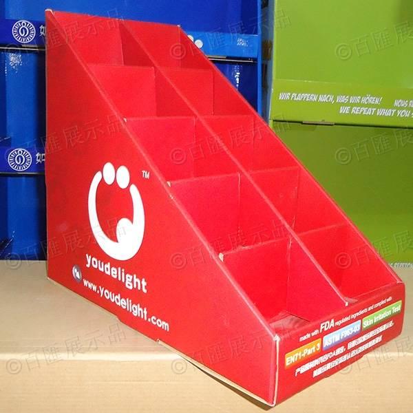 禮品卡片梯級式桌面展示盒-左側
