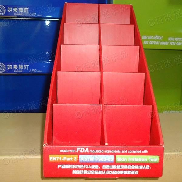 禮品卡片梯級式桌面展示盒-正面