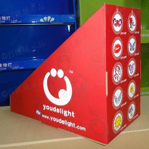 禮品卡片梯級式桌面展示盒-側面