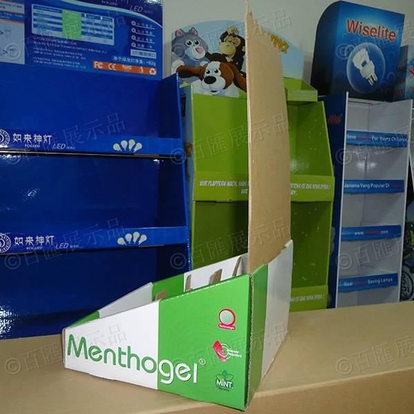 腳足除菌產品PDQ紙製陳列盒-背面