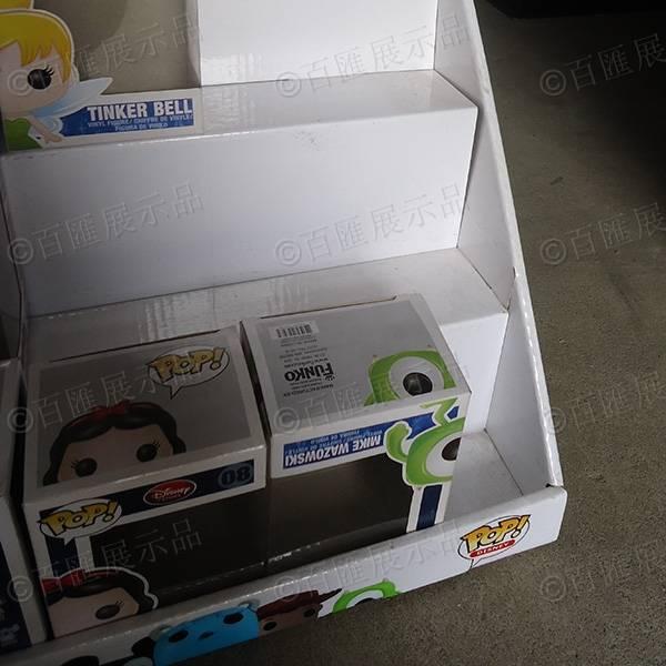 公仔玩具三層桌面瓦楞紙陳列盒-細節