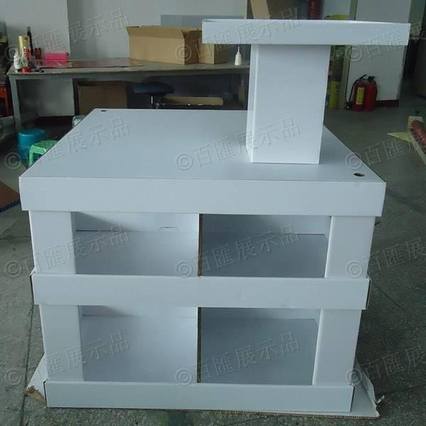 白色方形兩層間隔托架-正面