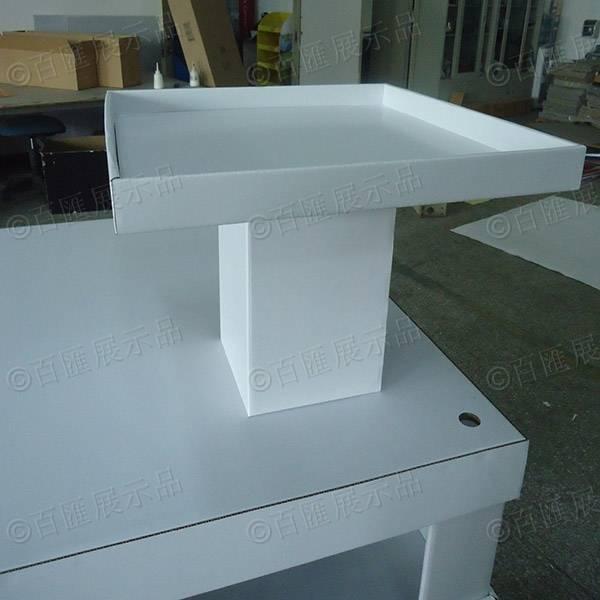 白色方形兩層間隔托架-頂盒