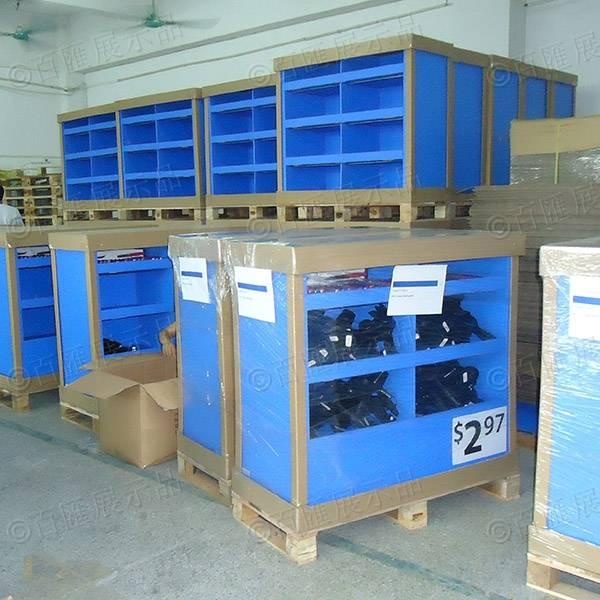 Walmart 沃爾瑪廚具產品紙陳列架-車間生產