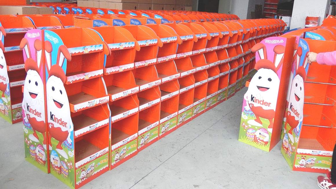 kinder dumpbin display