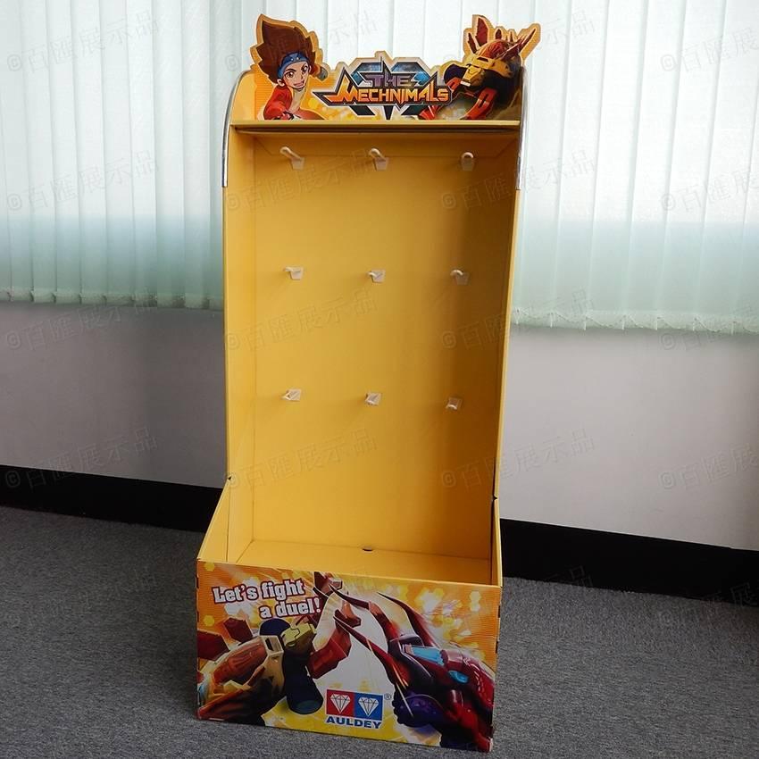 玩具掛鉤式紙質展示架