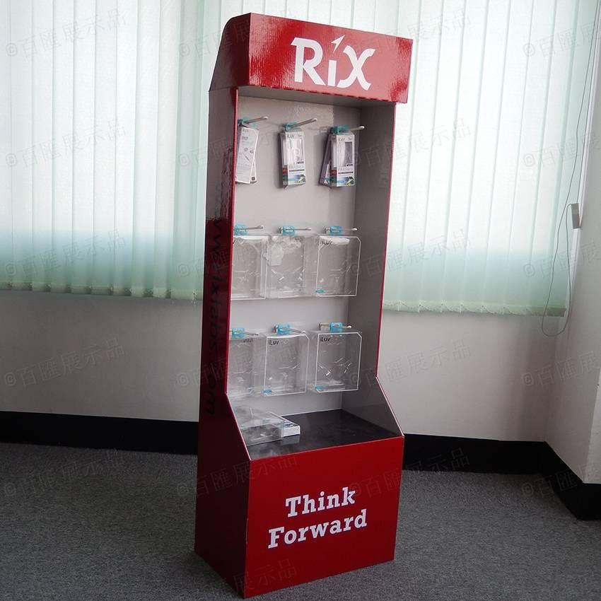 電子配件直立式掛鉤紙展示架