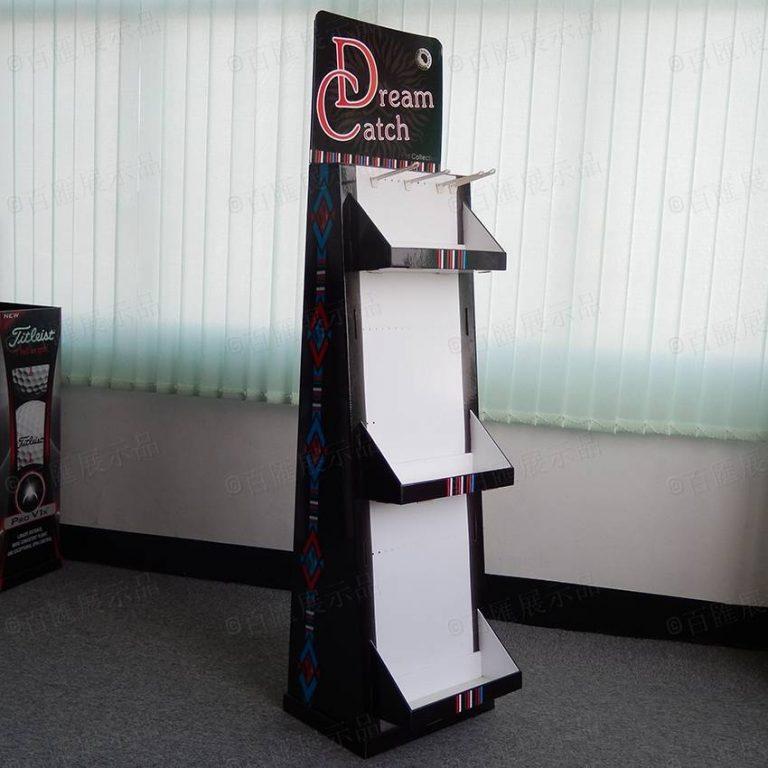 掛鉤帶托盤式紙製展示架