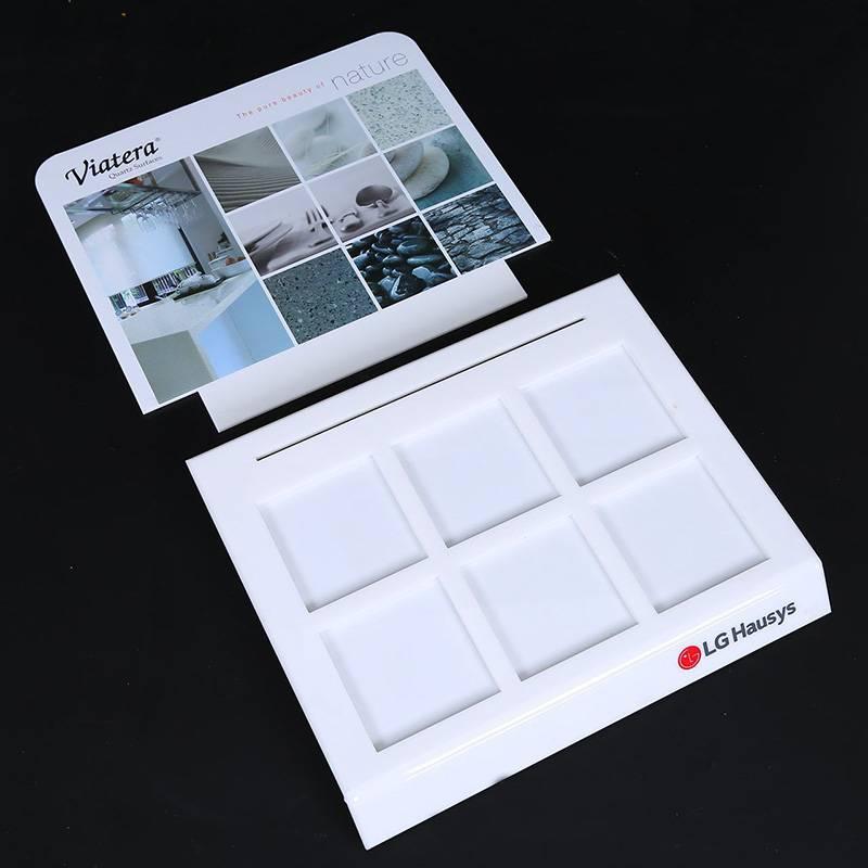 L型桌上型亞加力展示架